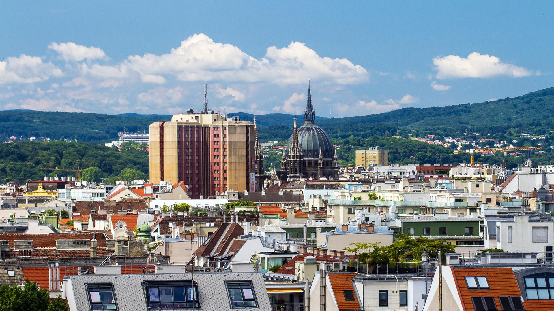 Stadtansicht von Wien der Hauptstadt von Österreich - Bei Auswanderern sehr beliebt